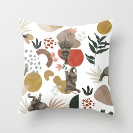 Elephant yoga 01 Throw Pillow
