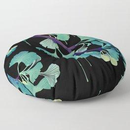 O Ginkgo (on Black) Floor Pillow