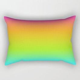 Beach Stripe Rainbow Variegated101 Rectangular Pillow
