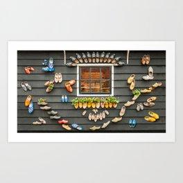 Dutch clogs - bright colours Art Print