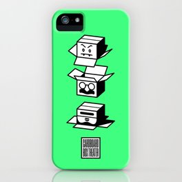 cardboard box theater iPhone Case