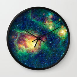 1496. WISE Catches the Lagoon Nebula in Center of Action Wall Clock
