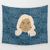 parks and recreation Wall Tapestries featuring Leslie Knope - Parks and recreation by Kuki