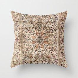 Silk Esfahan Persian Carpet Print Throw Pillow