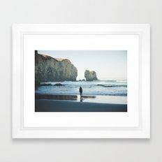 Tunnel Beach Framed Art Print
