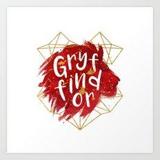 Gryffindor Gold Splatter Art Print