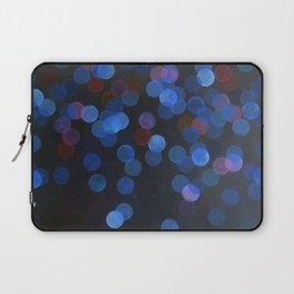 No. 45 - Print of Deep Blue Bokeh Inspired Modern Abstract Painting  Laptop Sleeve