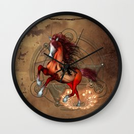 Awesome horse  with skull Wall Clock