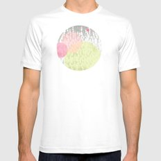 Dots//Four White MEDIUM Mens Fitted Tee