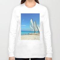 cuba Long Sleeve T-shirts featuring Cuba Beach by Parrish
