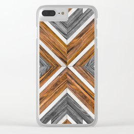 Urban Tribal Pattern 4 - Wood Clear iPhone Case