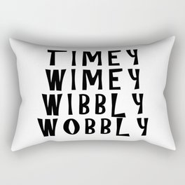 Timey Wimey Wibbly Wobbly Rectangular Pillow