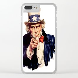 Uncle Sam Pointing Finger Clear iPhone Case