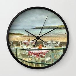 Cafe on the Beach Wall Clock