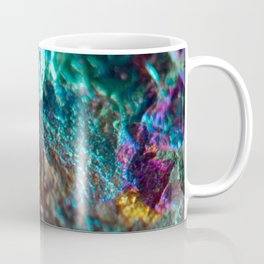 Rainbow Oil Slick Crystal Rock Coffee Mug