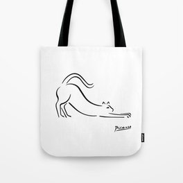Pablo Picasso Cat Artwork Shirt, Kitten Sketch Reproduction Tote Bag