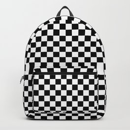 Classic Black and White Checkerboard Repeating Pattern Backpack