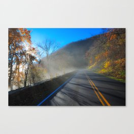 Mist Over Shenandoah Parkway Canvas Print