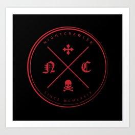 Nightcrawler Logo Art Print