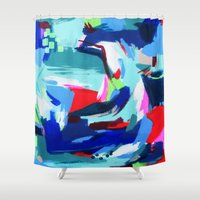 america Shower Curtains featuring America by kristinesarleyart