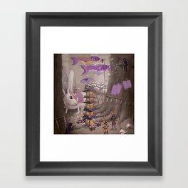 Tanuki Procession Framed Art Print