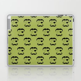 Olde Timey Mustache and Eyepatch Man Laptop & iPad Skin