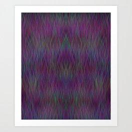 Multi- coloured Grass Design Art Print