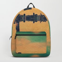 Mirrored City Triptych Right Backpack