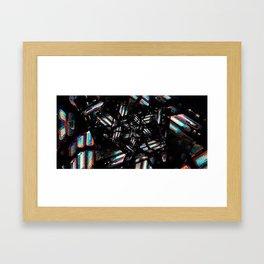 Chromatic Caverns Framed Art Print