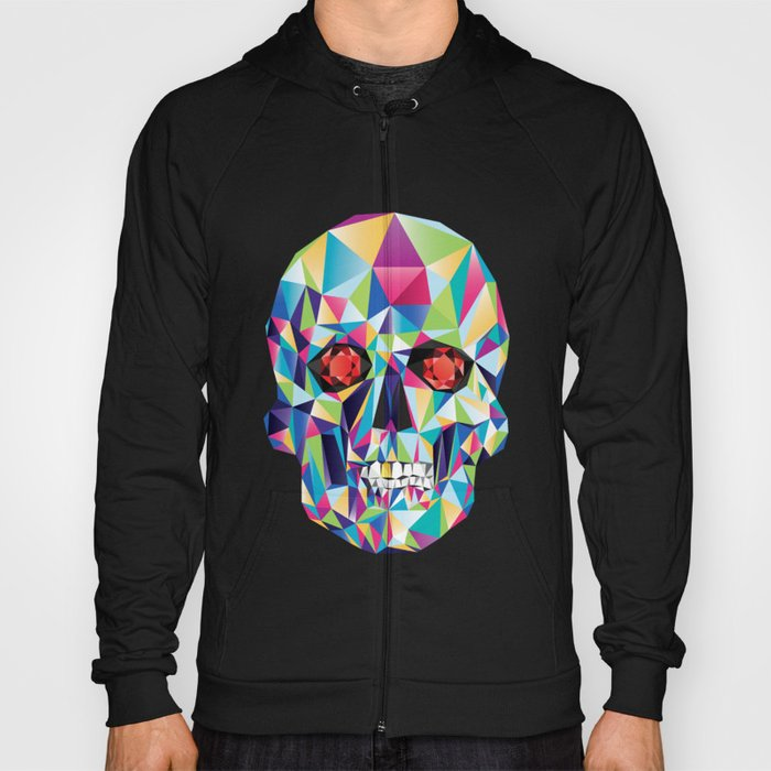 Geometric Candy Skull Hoody