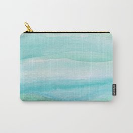 Ocean Layers - Blue Green Watercolor Carry-All Pouch