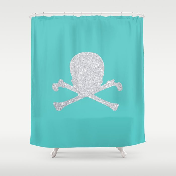 Shiny Skull Shower Curtain By Ricardocastillo