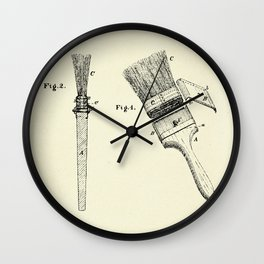 Paint Brushes-1873 Wall Clock