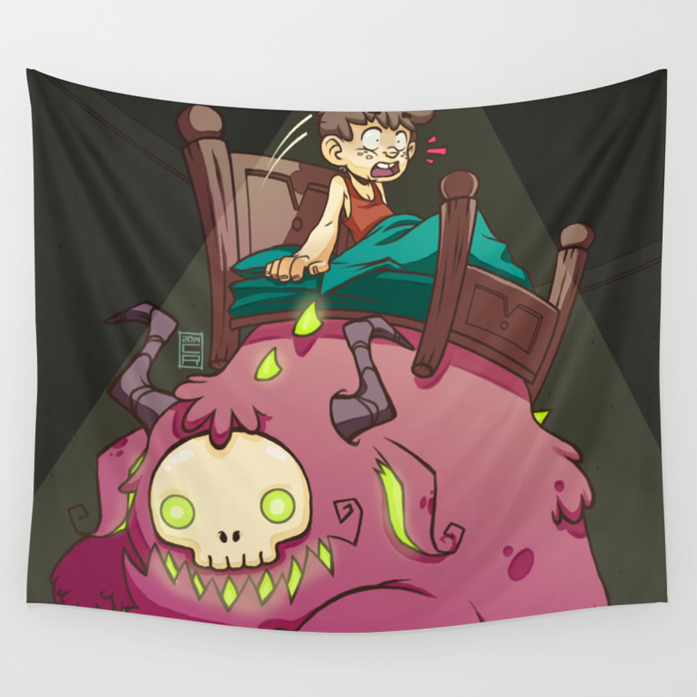 A Monster Under My Bed! Wall Tapestry by Cjimenezshop TPS2986430