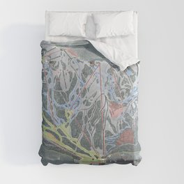 Crystal Mountain Resort Trail Map Comforters