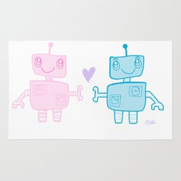 robots in love Rug