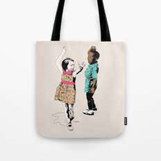 Dancing Kids Tote Bag