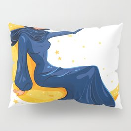 Lady on the Moon Pillow Sham