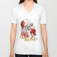 man of steel V-neck T-shirts featuring man o Steel by Pankaj Bhambri Artworks