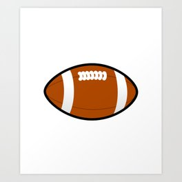 Ohio American Football Design white font Art Print