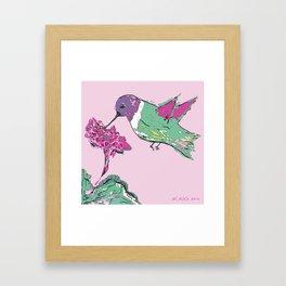 The Return of the Hummingbird Framed Art Print