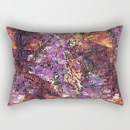 Colorful Rusty Abstract Print Rectangular Pillow
