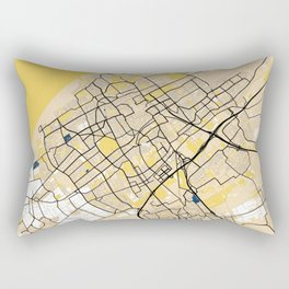 The Hague Yellow City Map Rectangular Pillow