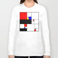 fibonacci Long Sleeve T-shirts featuring Neo-Plastic-Fibonacci-1 by AMO Design