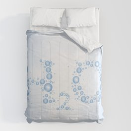 Water drops with background Comforters