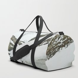 A high Alpine winter road trip Duffle Bag