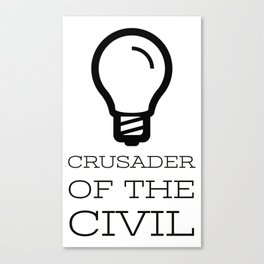 Thinker's Right Logo - Crusader of the Civil Canvas Print