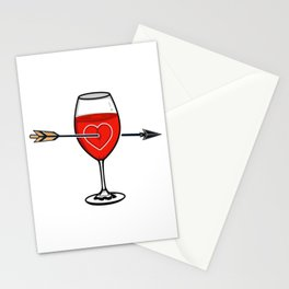Say You'll Be Wine Stationery Cards
