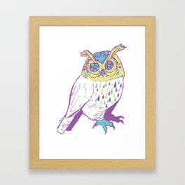 The second owl Framed Art Print