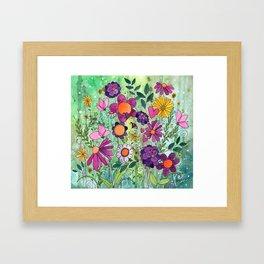 Purple Plum Parfait Framed Art Print